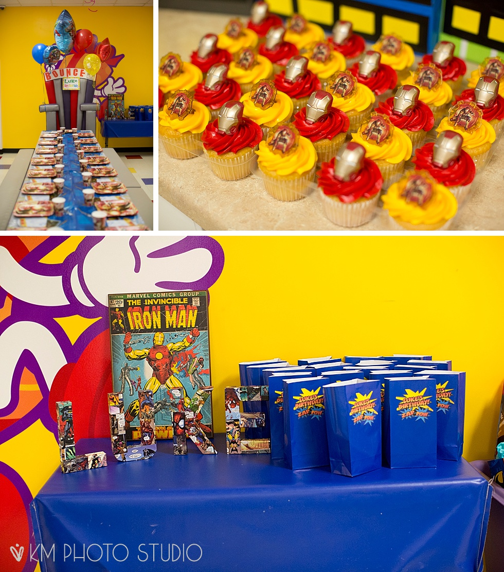 Iron Man Birthday Superhero Decoration Comic Book Photo Booth Dallas Party Photographer