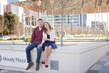 Dallas Engagement Photographer, Klyde Warren Park Engagement Session, Downtown Dallas Engagement Session, KM Photo Studio