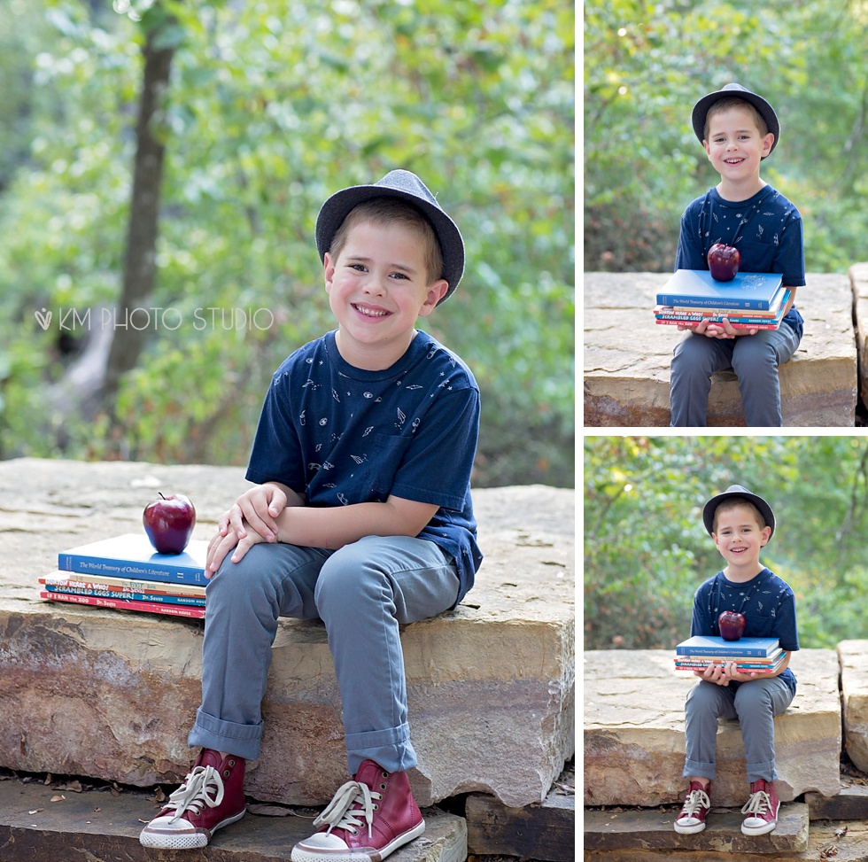 Back to School Session, Kindergarten Session, First day of School, KM Photo Studio, Dallas Portrait Photographer, Dallas Child Photographer